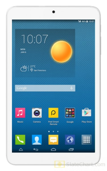 Alcatel Onetouch Pixi 3 8 3g 2015 Review And Specifications Slatechart Com